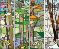 custom landscape stained glass patterns
