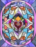 abstract victorian stained glass pattern